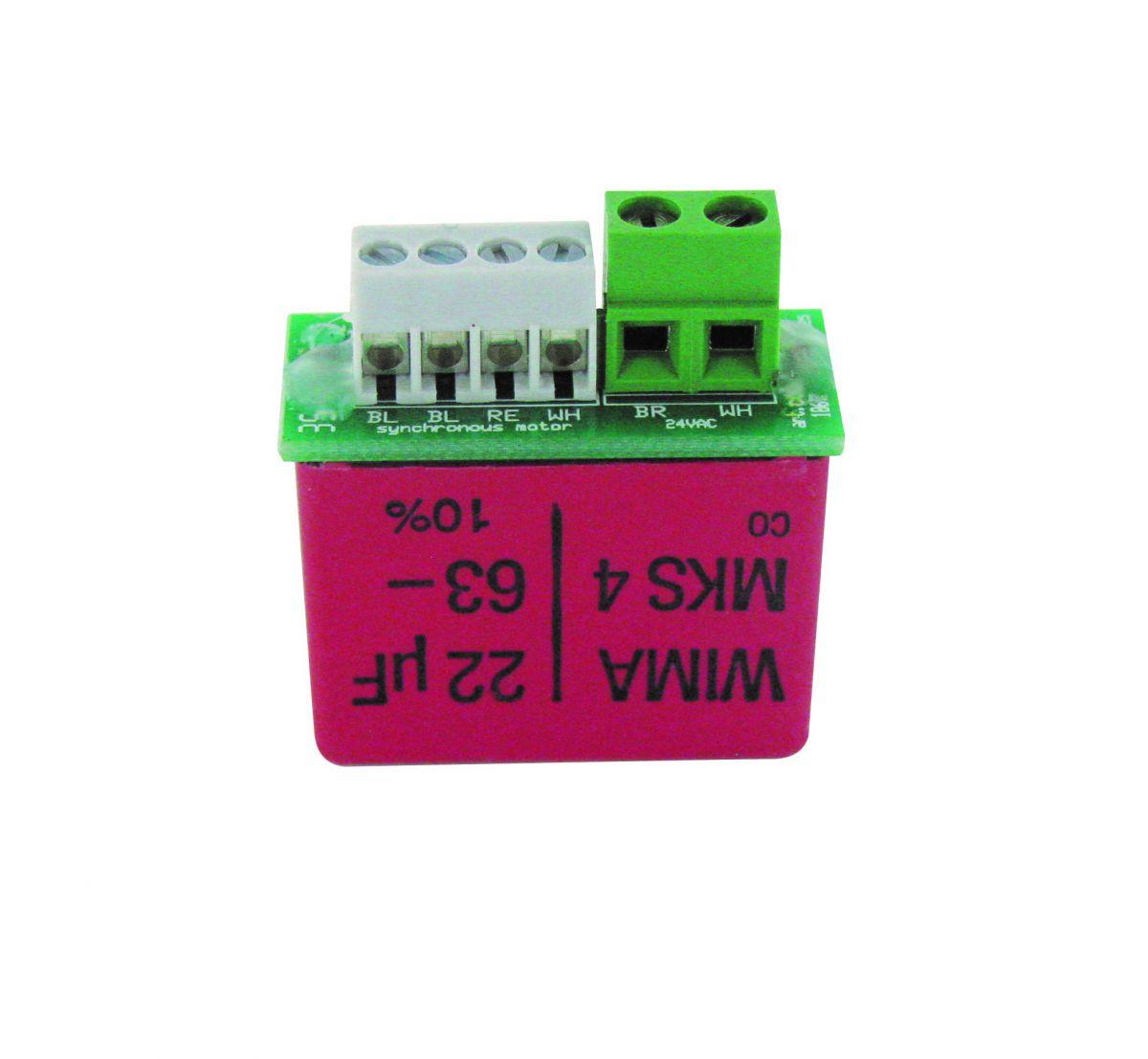 condensator op aansluitprint 22f tbv motor 001069000