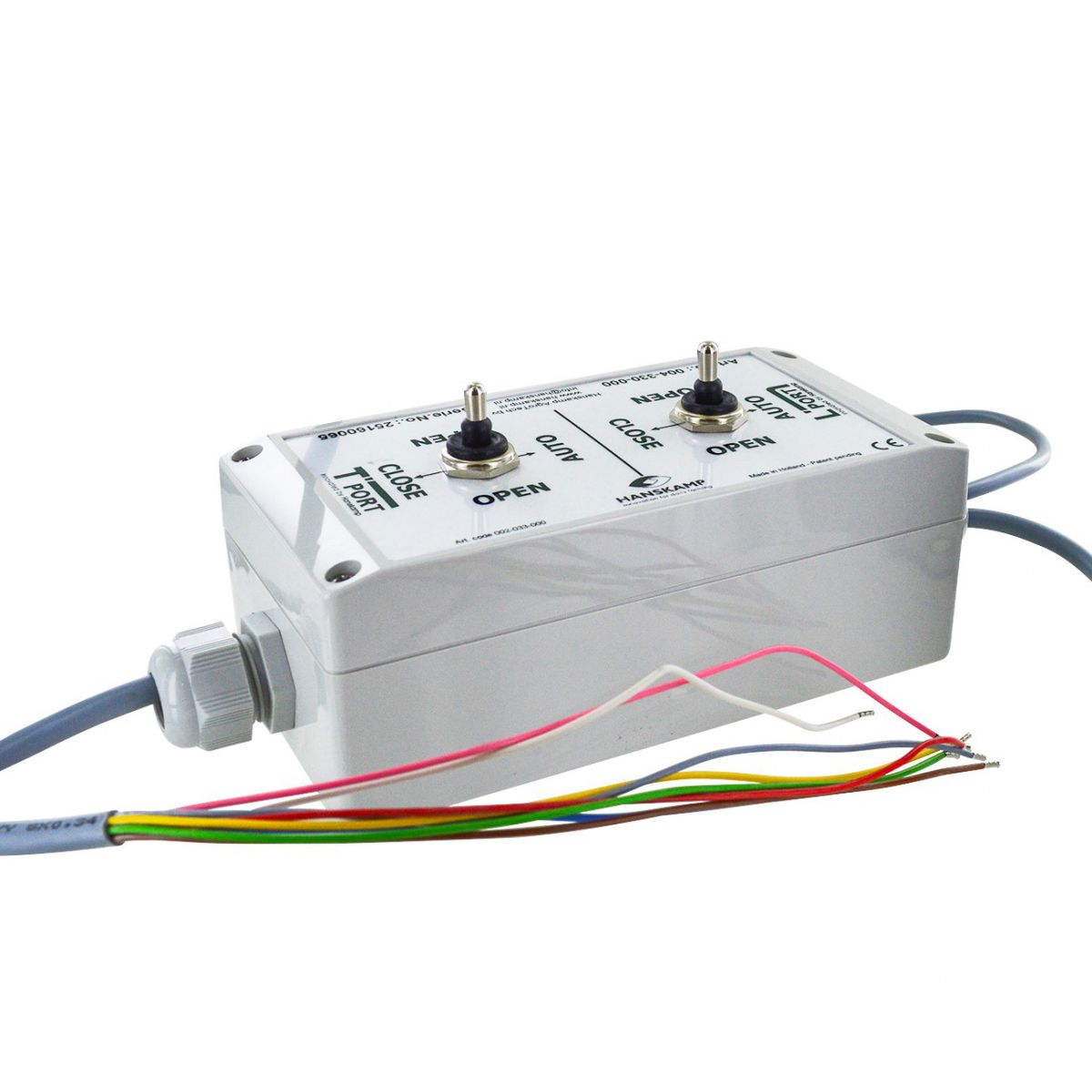 control box tport front spider with double cable gland with 2x 3position switch