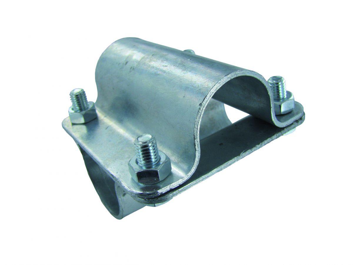 cross bracket 1 x 1 2part hotdip galvanized with 4 bolts m10x25