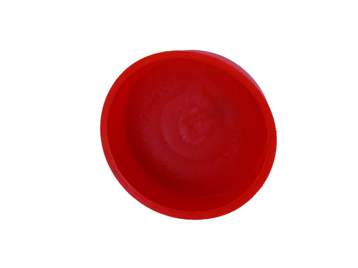 end cap 80 mm red