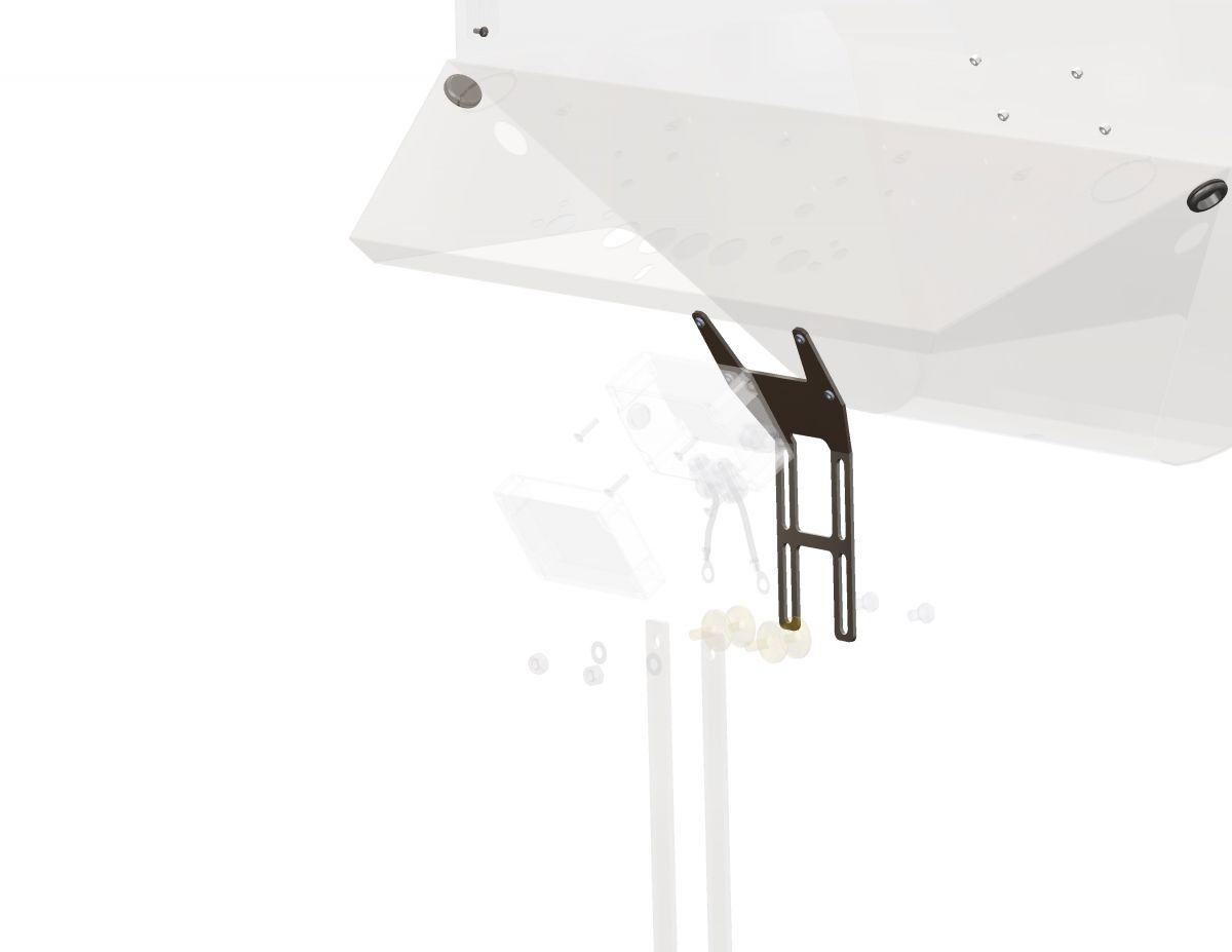 ewa antenne plaque de fixation 3 mm avec matriel de montage
