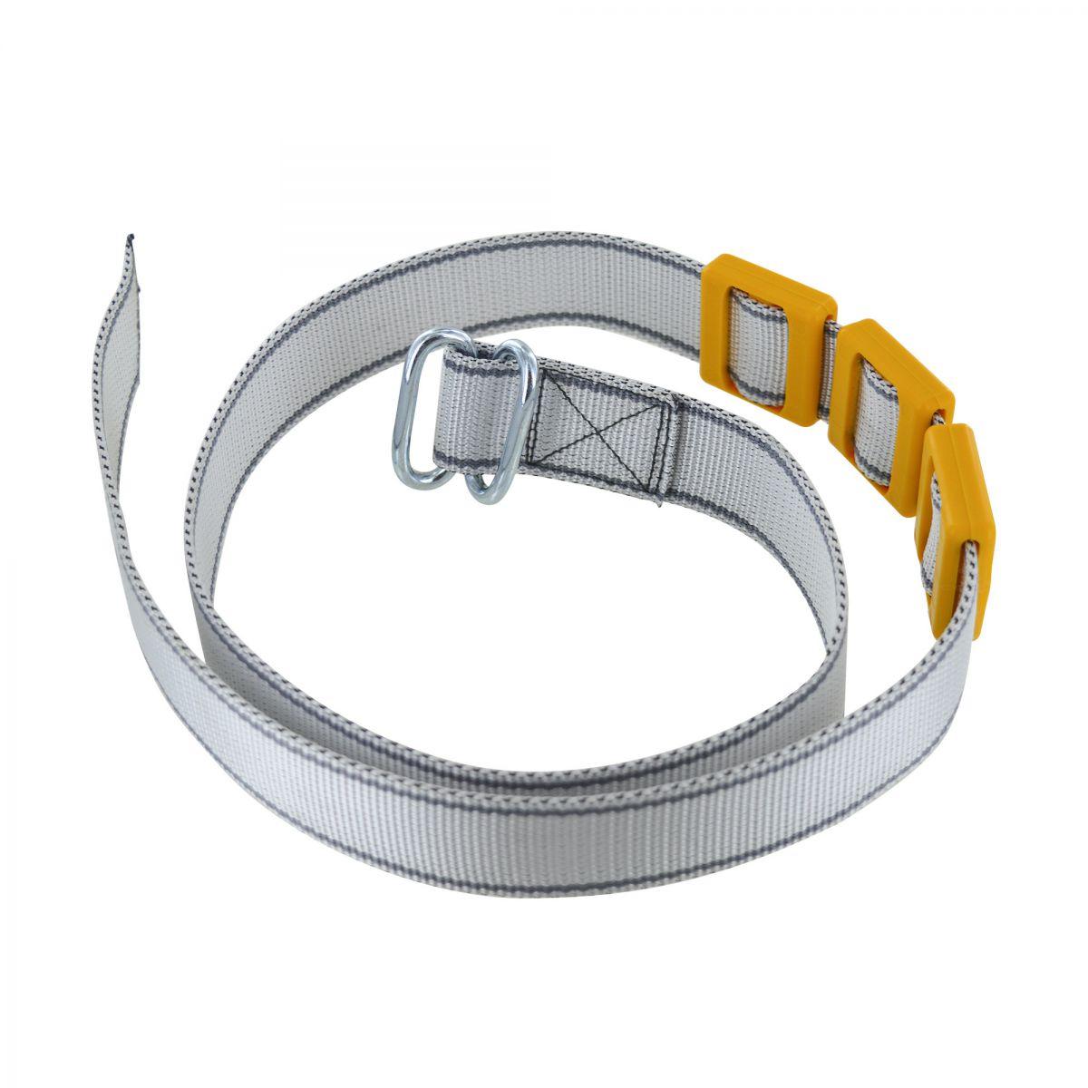 halsband met gesp 2x6 mm ovaal 40 mm 13 m zilvergrijs