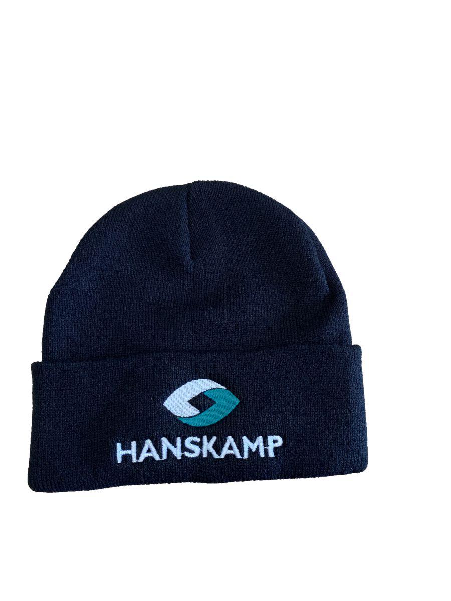 hanskamp muts zwart met logo