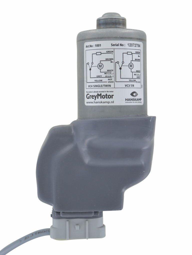 moteur 40rpm gris botier encastr 24v dc geawestfalia cble et rsistance compris