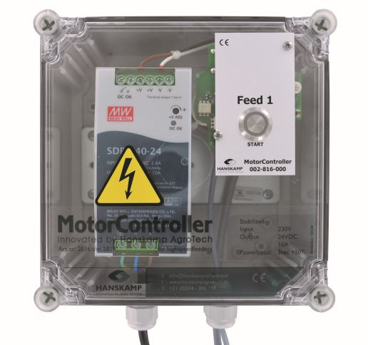 motorcontroller 1 aliment pipefeeder highspeed avec alimentation 24v dc 10a dans le coffret