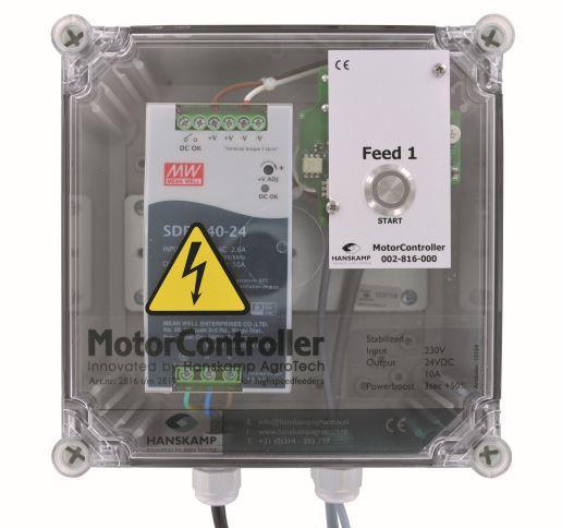 motorcontroller 1 futtersorte pipefeeder highspeed mit stromversorgung 24v dc 10a in gehuse