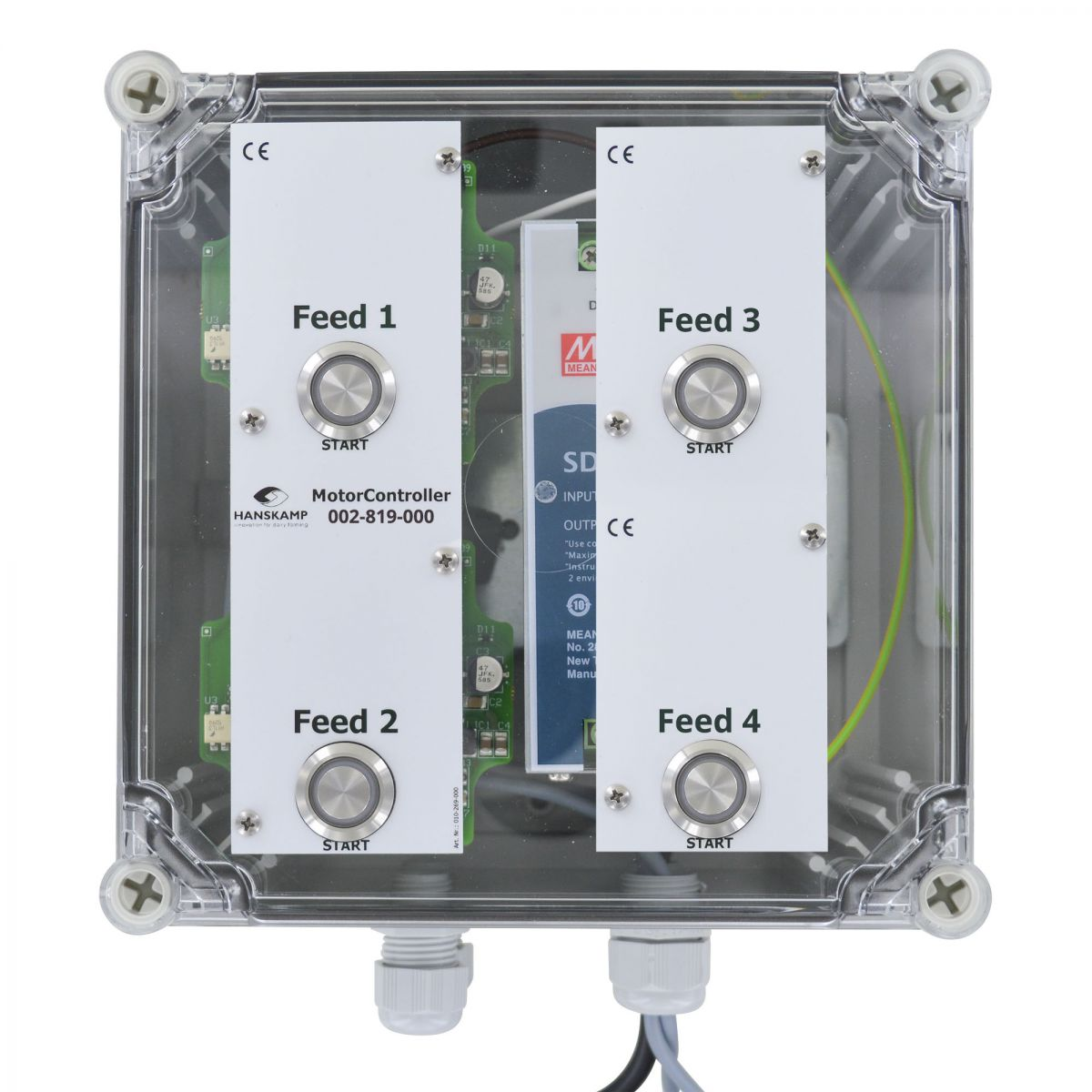 motorcontroller 4 types of feed pipefeeder highspeed with power supply 24v dc 10a in enclosure
