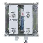 MotorController 4 types of food, PipeFeeder HighSpeed with power supply 24V DC 10A in enclosure