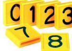 Nummer 0 für Kuhhalsband (10 Stück im Karton) Gelb (48x46mm)