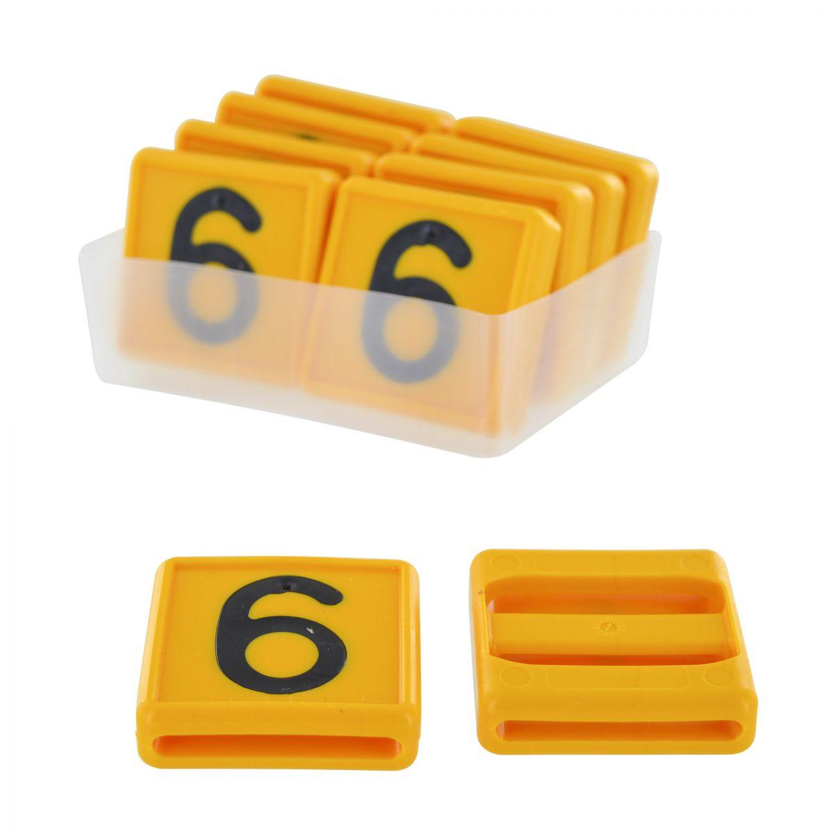 nummer 69 fr kuhhalsband 10 stck im karton gelb 48x46mm