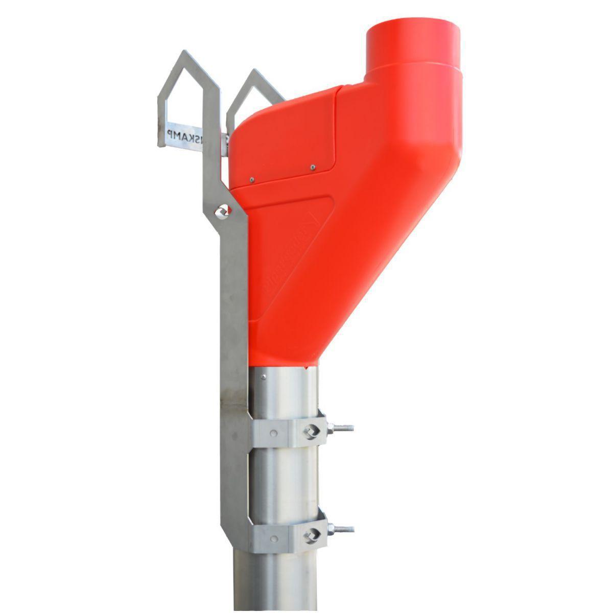 pipefeeder court rouge avec support de montage pour lely a4a5