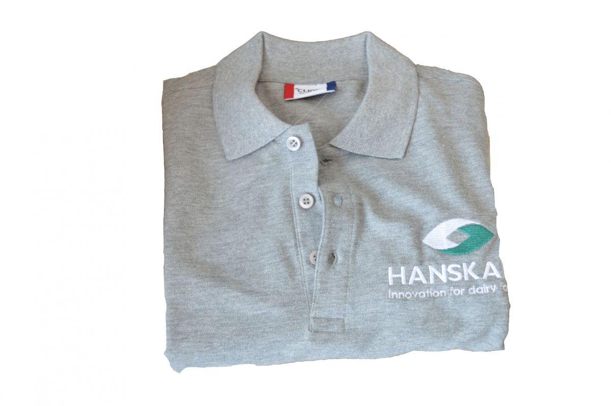 polo shirt with hanskamp logo size l