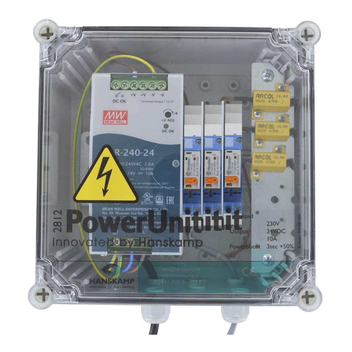 powerunit 24v dc 10a avec relais 115v et rsistance 3 aliments