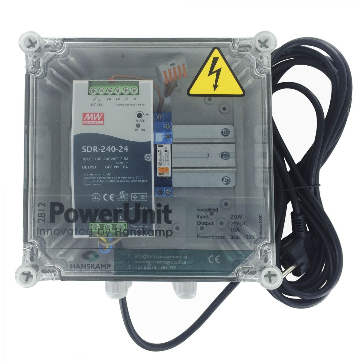 powerunit 24v dc 10a for lport with relay 115v 1 type of food
