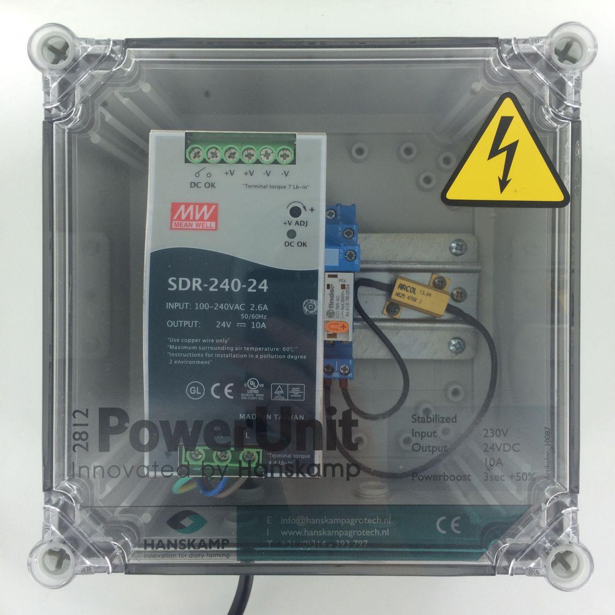 powerunit 24v dc 10a mit relais 115v und widerstand 1 futtersorte