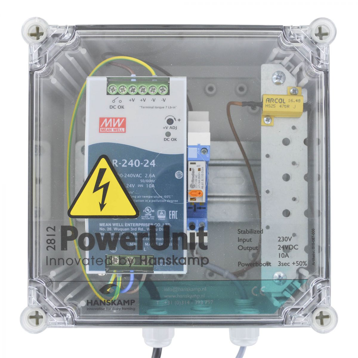 powerunit 24v dc 10a with relay 115v and resistor 1 type of food
