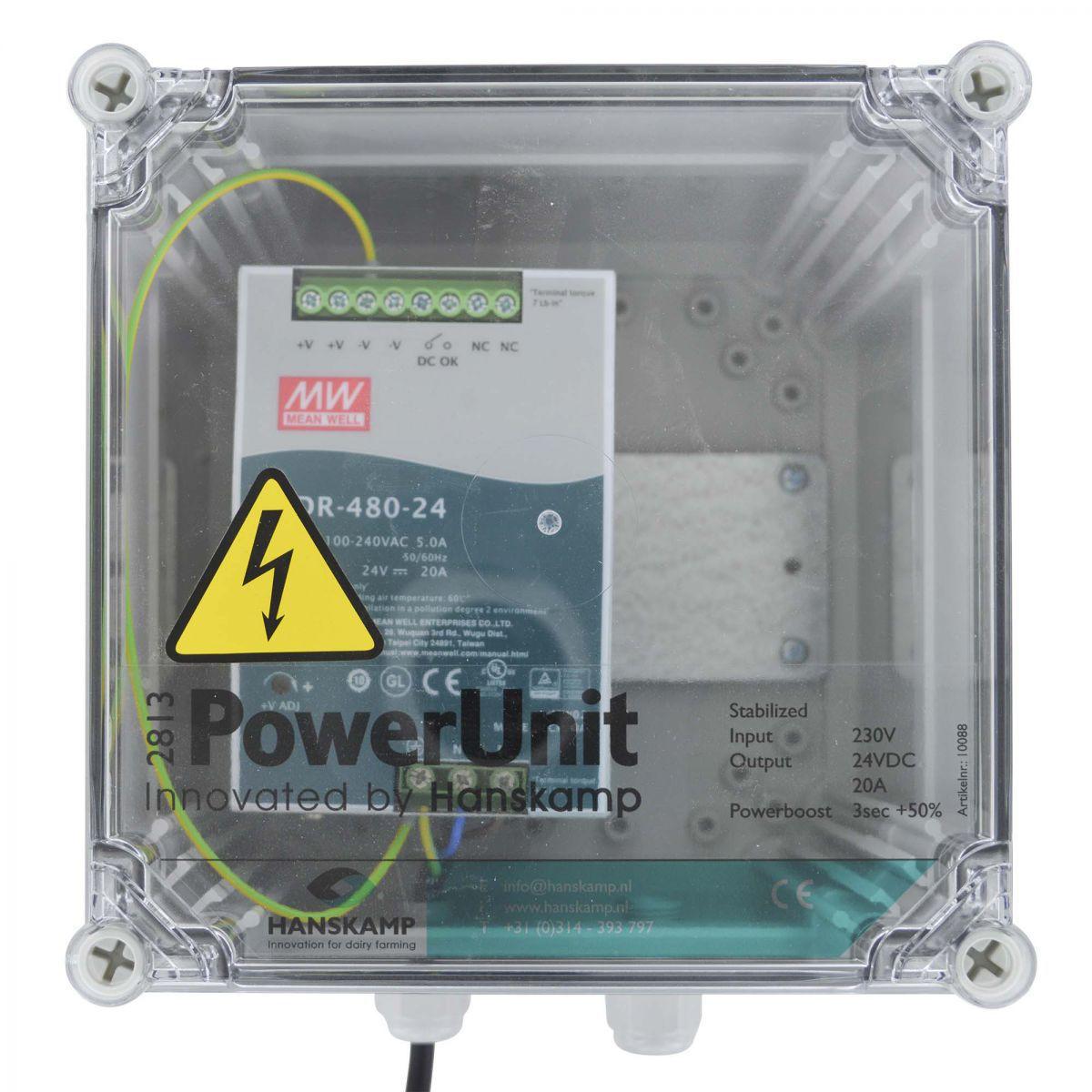 powerunit mit sdr stromversorgung 24v dc 20a mit powerboost mit 10 m kabel