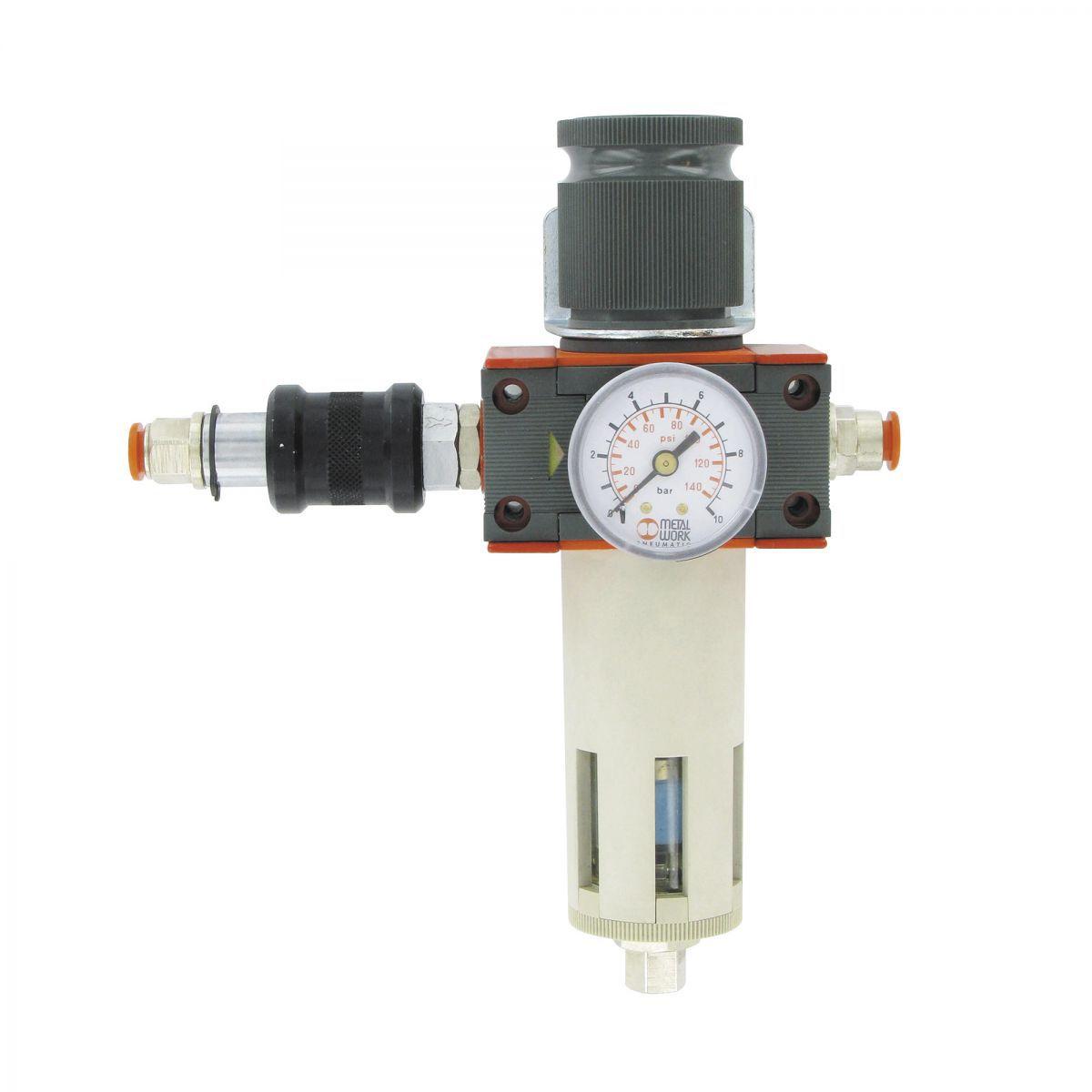 pressure regulator with filter liquid seperator and automatic drain
