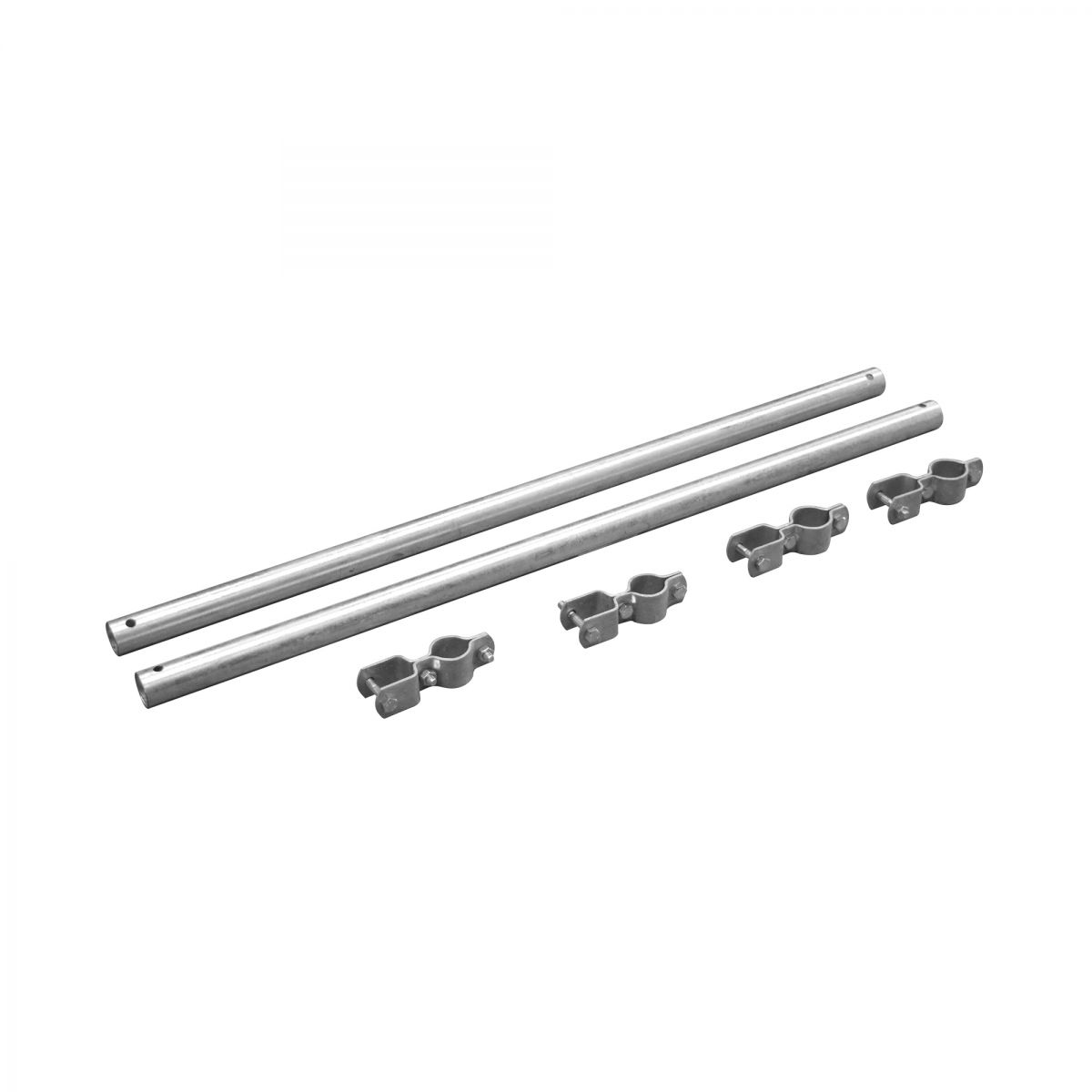 set of support tubes 1 x 1 with clamps