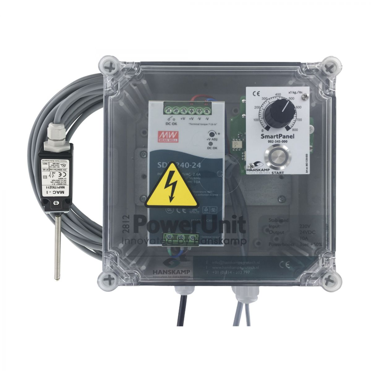 smartpanel in powerunit one type of food with limit switch 04 kg with graduated scale