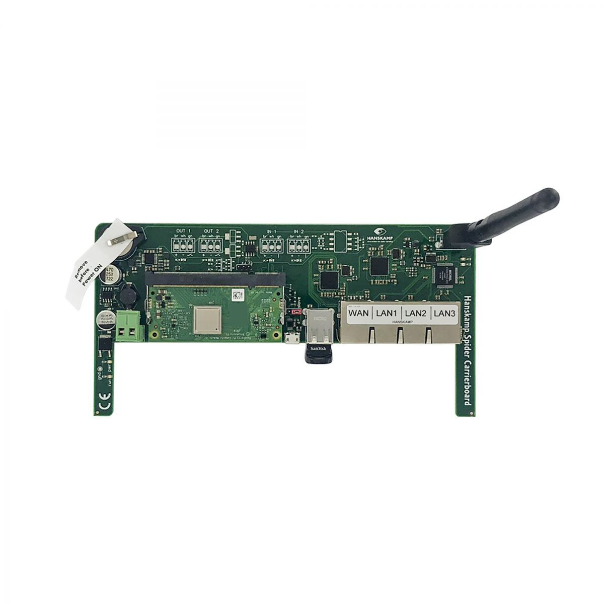 spider carrier board mit switch compute module wifi dongle und konnektor