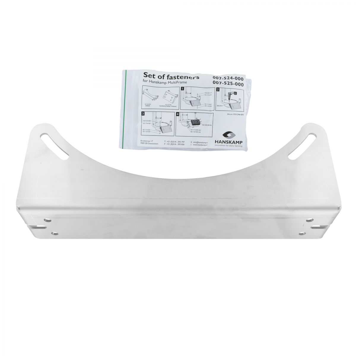 support for reader 3 mm aisi304 incl mounting material for multiframe suitable for multiframe with delaval reader